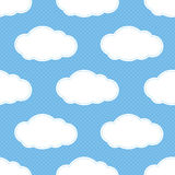 Seamless Cloud Pattern Royalty Free Stock Photography