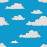 Seamless cloud pattern royalty free stock photo