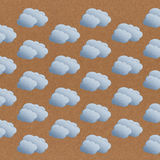 Seamless cloud pattern on brown background Royalty Free Stock Photo