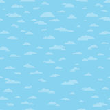 Seamless Clouds Background. Seamless cloud background pattern. Tiles side to side and top to bottom stock illustration