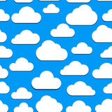 Seamless clouds background Royalty Free Stock Image