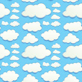 Seamless clouds in blue sky Stock Photos
