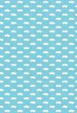 Seamless clouds pattern. Stock Images