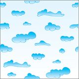 Seamless clouds pattern Royalty Free Stock Images