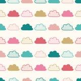 Seamless clouds pattern Stock Photo
