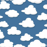 Seamless clouds pattern Stock Photos