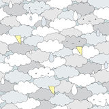 Seamless clouds pattern. Royalty Free Stock Photography