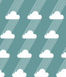 Seamless clouds and rain pattern. Vector illustration. Seamless clouds and rain pattern on a blue background. Vector illustration Royalty Free Stock Photos