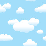 Seamless Clouds and Sky. Seamless repeating clouds and blue sky pattern Stock Illustration
