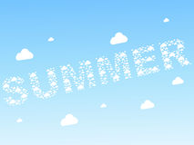 Seamless clouds summer background Stock Images