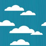 Seamless clouds in vector Royalty Free Stock Photo