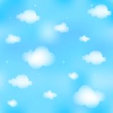 Seamless cloudscape royalty free stock photo