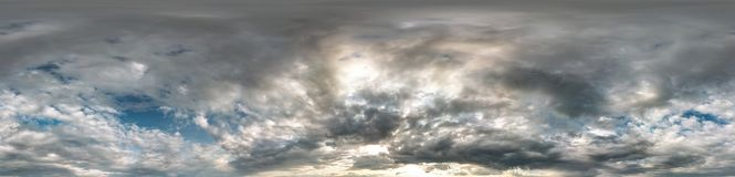 Free Seamless Cloudy Blue Sky Hdri Panorama 360 Degrees Angle View With Zenith And Beautiful Clouds For Use In 3d Graphics As Sky Dome Stock Image - 159534451