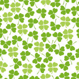 Seamless clover background Stock Images