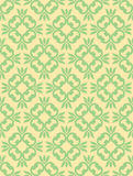 Seamless Clover Damask Pattern Royalty Free Stock Images