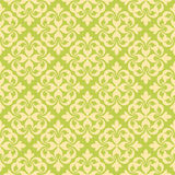Seamless Clover Damask Pattern Stock Photography