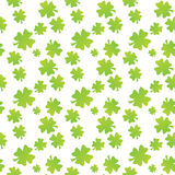 Seamless clover leaf pattern Stock Photo