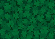 Seamless Clover Pattern Dark Stock Photography
