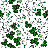 Seamless clover pattern Royalty Free Stock Photography