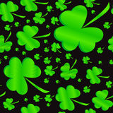 Seamless clover pattern on Patrick's Day Stock Photos