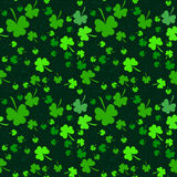 Seamless clover pattern on Patrick's Day Royalty Free Stock Image