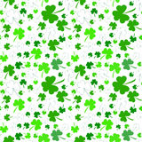 Seamless clover pattern on Patrick's Day Royalty Free Stock Photos