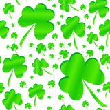 Seamless clover pattern on Patrick's Day Stock Images