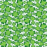 Seamless  clover pattern for St. Patricks Day. Green leaves background. Royalty Free Stock Photo