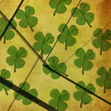 Seamless clover watercolor background Royalty Free Stock Image