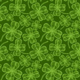 Seamless clovers pattern Stock Image
