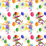 Seamless clown and balloons Royalty Free Stock Photos