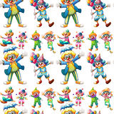 Seamless clowns Royalty Free Stock Images