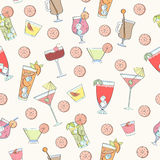 Seamless cocktail pattern Royalty Free Stock Images