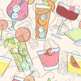Seamless cocktail pattern Stock Image
