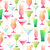 Seamless cocktail pattern Royalty Free Stock Photo