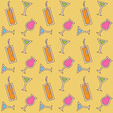 Seamless cocktail pattern. Vector illustration Royalty Free Stock Images
