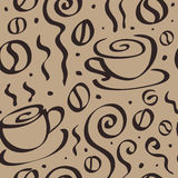 Seamless Coffee background. Stock Photos