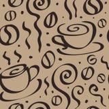 Seamless Coffee background. Stock Photos
