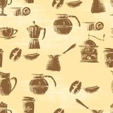 Seamless coffee background Stock Image