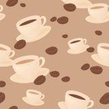 Seamless coffee bean background. Stock Photos