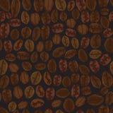 Seamless coffee beans. Royalty Free Stock Photos