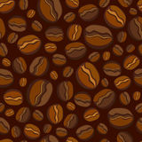 Seamless coffee beans Stock Photography