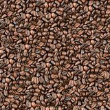 Seamless coffee beans background. Stock Images