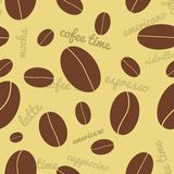 Seamless coffee beans background Stock Photos
