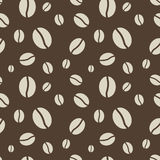 Seamless coffee beans pattern Royalty Free Stock Images