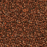Seamless Coffee Beans Texture Stock Images