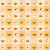 Seamless coffee with candy pattern Royalty Free Stock Image