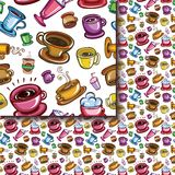 Seamless coffee cups pattern Royalty Free Stock Photo