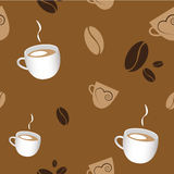 Seamless Coffee Patern Stock Photo