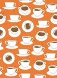 Seamless Coffee Pattern Stock Image
